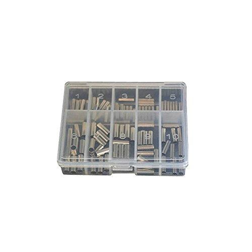 Zite Klemmhülsen-Sortiment - 150 Stück Quetsch-Hülsen Angeln Verschiedene Größen in Box
