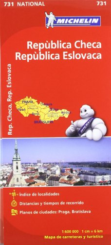 Mapa National República Checa República Eslovaca (Mapas National Michelin) por Vv.Aa