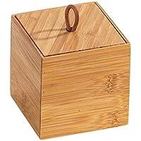 WENKO DIE BESSERE IDEE Boite de Rangement avec Couvercle Bambou, Terra S, 15x10x4.5cm