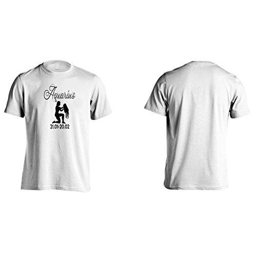 Nuovo Acquario Segno zodiacale novità divertente Uomo T-shirt a3m White