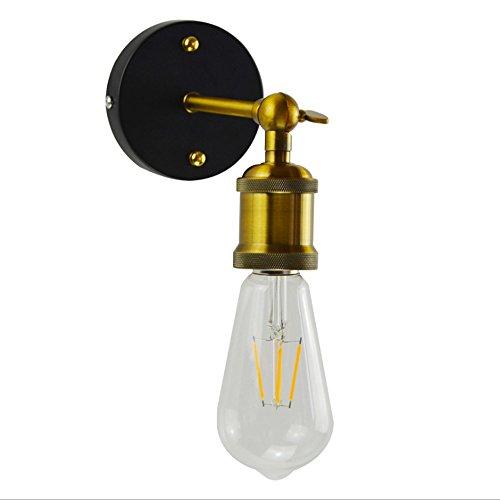 LEILEI Retro Industrial Eisen Wandleuchte Wandleuchte Edison Metall Wandleuchte Leuchte Mit 180 Grad Einstellbare Metall Arm Und E27 Sockel
