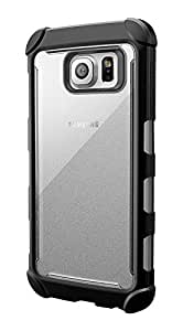 Galaxy S6 Case - Poetic [Affinity Series] - [TPU Grip Bumper] [Corner Protection] Protective Hybrid Case for Samsung Galaxy S6 (2015) Frost Clear/Black (3-Year Manufacturer Warranty From Poetic)