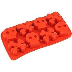 Vinciann Molde Calavera Huesos Forma Cubetto Cubitos Hielo cóctel Shots Bombones