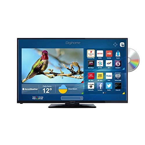 Digihome 32HDSDVDFVP 32 Inch HD Ready Freeview HD Smart LED TV in Black