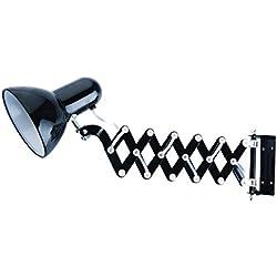 Evila - Lámpara pared extensión 230v e27 40w negro