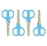 Disney Junior Ciseaux enfants ronds en acier inoxydable Extrémités à lame Couleur Bleu 4 x Disney Scissor
