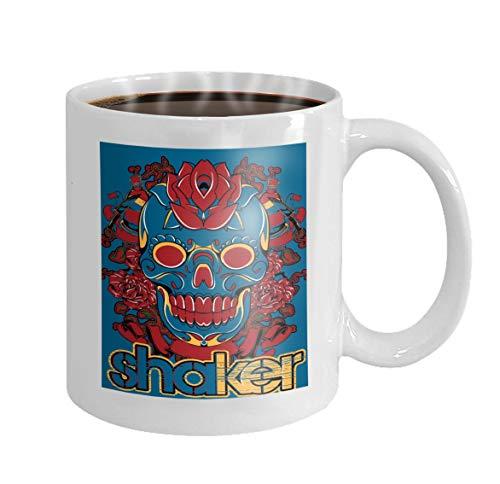 11 oz Coffee Mug shaker skull available Yellow Yellow Novelty Ceramic Gifts Tea Cup -