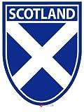 Sticker Schottland mit schottischen Andreaskreuz auf Schild