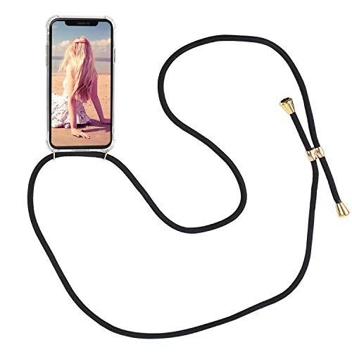 Imikoko Handykette Hülle für iPhone XR Necklace Hülle mit Kordel zum Umhängen Silikon Handy Schutzhülle mit Band - Schnur mit Case zum umhängen -