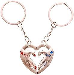 A M ENTERPRISES Love Hands in Heart Key Chain key Ring