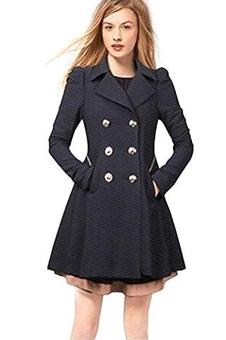 -Babyonline-Damen Mantel Trenchcoat Zweireihig mit Gürtel Übergangs Jacke 2017