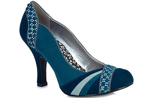 Ruby Shoo Heather Damen Schuhe Blau Blau