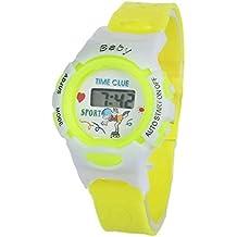 SMARTLADY Digital Deporte Reloj de pulsera para Niña Niño (Amarillo)