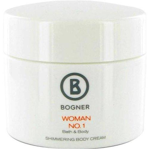 Bogner No.1 femme/mate, Shimmering Body Cream, 1er Pack (1 x 200 ml)