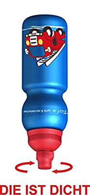 Fizzii 330ml FEUERWEHR, Kinder Kunststoff Trinkflasche auslaufsicher bei Kohlensäure, schadstofffrei, spülmaschinenfest