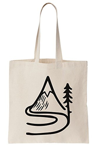Road To The Mountain Icon Art Canvas Tote Bag (- Icon-canvas-tote)