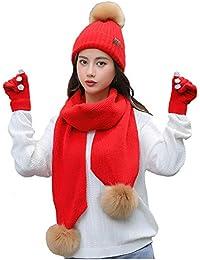 Amazon.it  Cappello e guanti - Rosso   Donna  Abbigliamento efc94abb7640