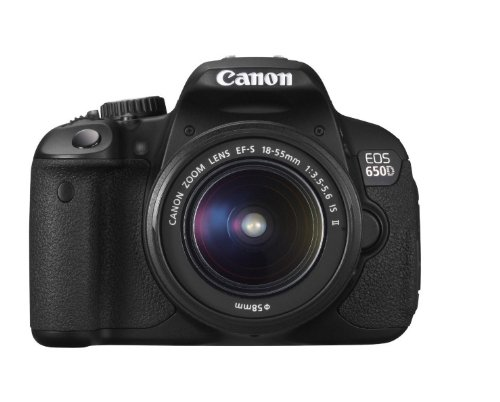 Canon EOS 650D 18.0 MP Digital SLR with EF-S 18-55 IS Kit Lens (Black)