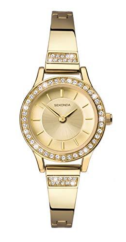 Sekonda Watches Orologio Analogico Quarzo Donna con Cinturino in Placcato Oro 2565.27