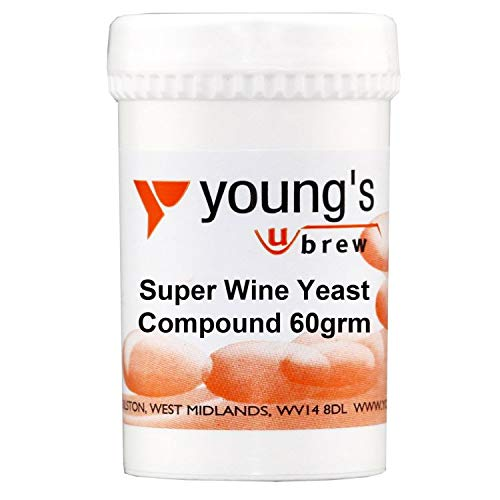 Youngs Brew Home Brewing Super Wine Yeast Compound For High Alcohol 60g