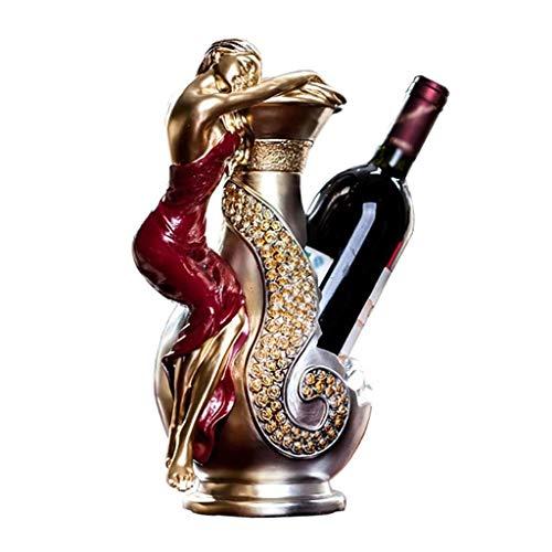 GFF Dekorativer Weinflaschenhalter Tischplatte Freistehender Einzelflaschen-Weinregalständer, Heimtextilien, Premium-Harz, 32 \u0026 Times; 20 \u0026 Times; 15 cm -