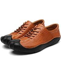 FuweiEncore Zapatos para Caminatas Zapatos Deportivos al Aire Libre Zapatos Ocasionales Zapatos para Caminatas Cabeza Redonda Marrón Zapatos para Hombres (Color : -, tamaño : 42)