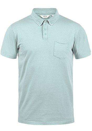 !Solid Pat Herren Poloshirt Polohemd T-Shirt Shirt Mit Polokragen Aus 100% Baumwolle, Größe:L, Farbe:Blue Glow (1252) - 100% Baumwolle Henley