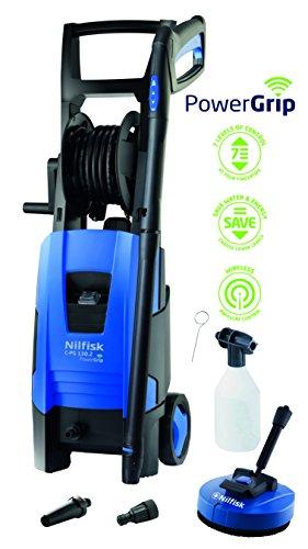 Nilfisk C-PG 130.2 P X-TRA Vertical Eléctrico 520, 350l/h 1800W Negro, Azul Limpiadora de alta presión o Hidrolimpiadora - Limpiador de alta presión (Vertical, Eléctrico, 8 m, 5 m, Negro, Azul, Aluminio)
