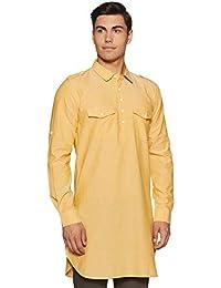 Indo Ink Men's Cotton pathan Suit Indo Western Kurta