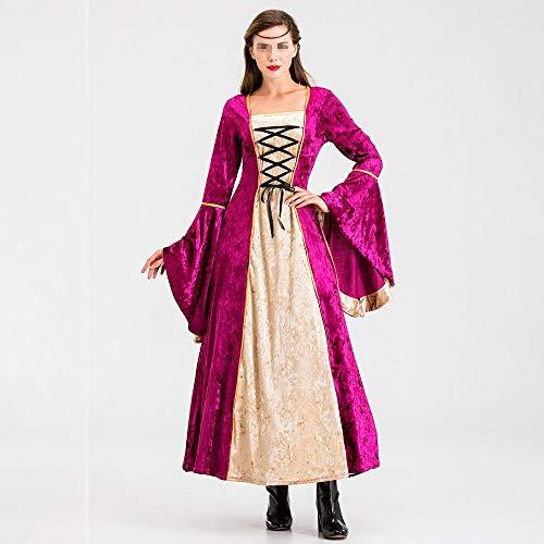 Erwachsene Kostüm Mantel Britischen Roten Für - YyZCL Vintage Palace Kleid Mittelalterliche Taille Langes Kleid Prinzessin Aristokratisches Kleid Britisches Windkleid (Farbe : Rot, Größe : XL)