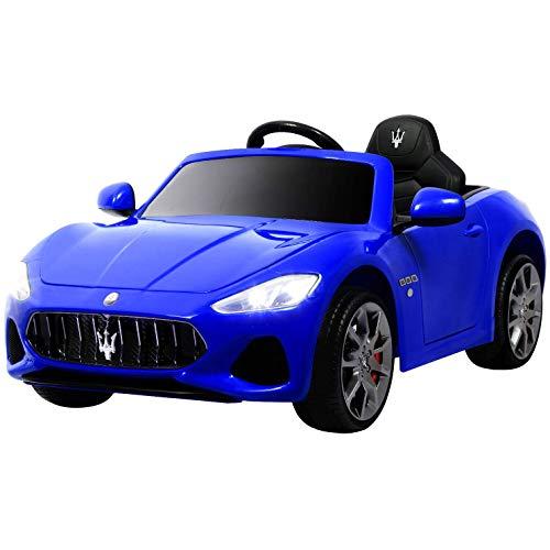 RC Auto kaufen Kinderauto Bild: UEnjoy 12V Kinderauto Maserati Grancabrio Elektronik Kinderauto Fahrt auf Auto mit Fernbedienung, Federung, MP3-Player, Beleuchtung, Blau*