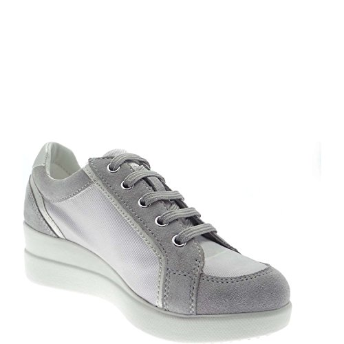 Basket, color Gris , marca GEOX, modelo Basket GEOX D STARDUST B Gris Light Grey