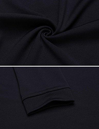 Modfine - Robe - Manches 3/4 - Femme Bleu Marine