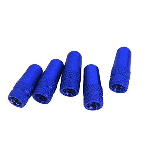 FEDSJUIHYG Bike Tyre Stem cappucci delle valvole in lega di alluminio di valvola della bicicletta copricerchi parapolvere per le biciclette blu 5Pcs di protezioni della valvo