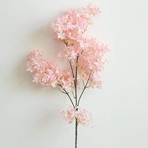 2 Stück Kirsche Schrank (WanTo 1 STÜCKE Künstliche Kreuz Kirsche Layout Projekt Simulation Blume für Zuhause Gardeb Dekoration Hochzeit Hand Gefälschte Blumen, 2)