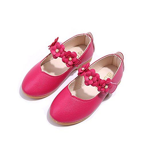 Igemy Kinder Schuhe Mädchen Mode Blumen Kid Schuhe Solid All Match Casual Schuhe Hot Pink