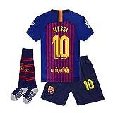 Brosin Fußball-T-Shirt Sportanzug Trikot, Nr. 10 Messi Barcelona Fußball-Sportbekleidung, Jungen-T-Shirt Für Kinder