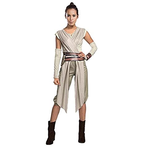Costume Rey femme Déguisement femmes Star Wars L 46/48 Tenue de jedi carnaval pour adulte habits La Guerre des étoiles feminin vêtements défilé fantaisie tenue de cosplay