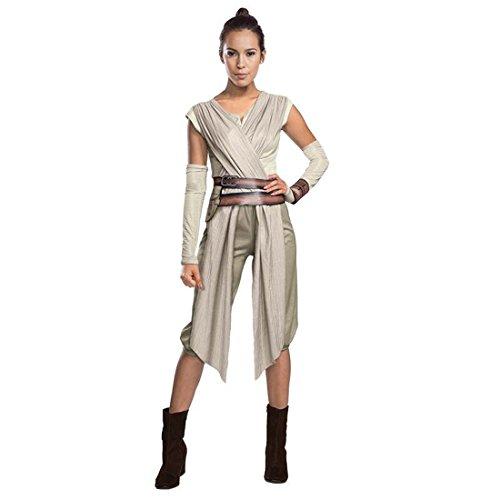 Vestimenta Star Wars Disfraz mujer Rey S 36/38 Traje chica Starwars Outfit rol en vivo Atuendo carnaval Jedi Ropa de carnaval fantasía