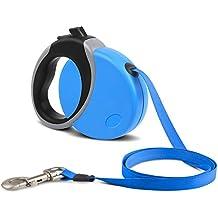 Pedy retráctil Pet plomo Correa extensible 26ft fácil instantánea retracción para grandes medio pequeño perro hasta 50kg, Color Azul