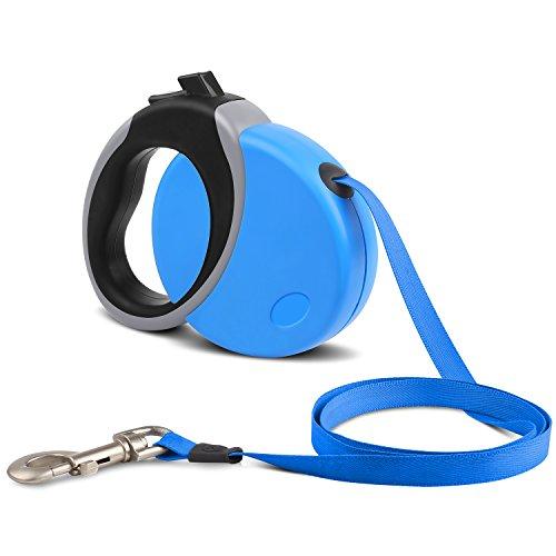 PEDY Roll-Leine Hundeleine Rollleine Einziehbare Führleine, 8 m blau für Hunde bis max. 50 kg