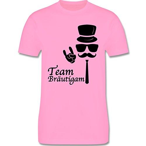 JGA Junggesellenabschied - Team Bräutigam Hipster Suit up - Herren Premium T-Shirt Rosa