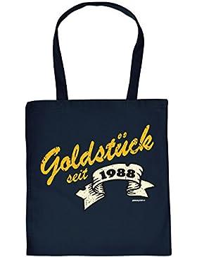 zum 30. Geburtstag Geschenk Stofftasche Goldstück seit 1988 Baumwolltasche Geschenkidee zum 30 Geburtstag 30 Jahre