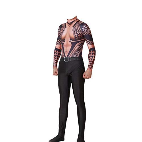 (qingning Aquamanne Arthur Cosplay Overall King Atlantis Anzug Jump Suit Superhero Kostüme 3D Body Suit Christmas Weihnachten Valentinstag Geschenck)