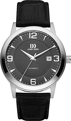 Danish Design IQ14Q1083 - Reloj unisex, correa de cuero color negro