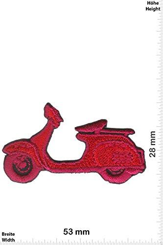 Patch - Vespa - Roller - small - rot - Motorrad - Motorrad - Vespa - Aufnäher - zum aufbügeln - Iron On Roller-patch