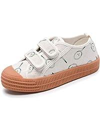 Zapatos Ocasionales de los niños Unisex de la Lona Zapatillas de Deporte Corrientes cómodas Respirables con Velcro