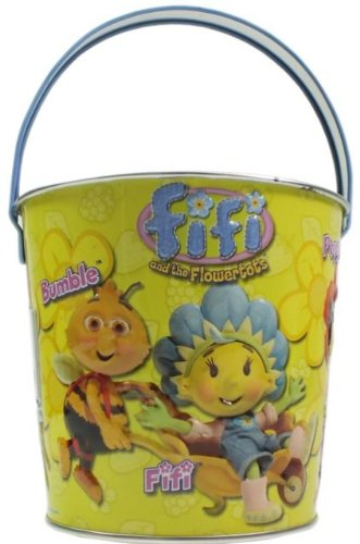 Seaside Metal Beach Bucket Cartoon Character Fifi And The Flowertots Size 110mm x 120mm
