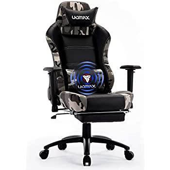 Avec Repose Fauteuil Confortable Siege Lombaire Ordinateur Racer Gaming De Ergonomique Uomax Gamer Massage Chaise Piedscamo Pour Et Support D2WEI9H