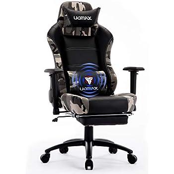 Et Uomax Gaming Support Piedscamo Avec Fauteuil Chaise Siege Pour Confortable Massage Ordinateur De Lombaire Repose Ergonomique Racer Gamer 4jRA5L3